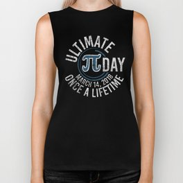 Ultimate Pi Day Funny Math 3.14 Distressed Pi Day T-Shirt Biker Tank