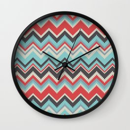 Aztec chevron pattern- grey Wall Clock
