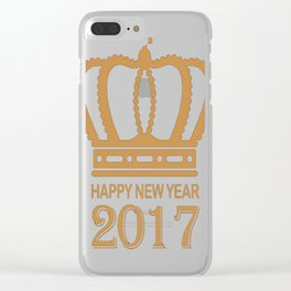 happy new year 2017 4 T-Shirt Clear iPhone Case