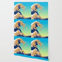 Shiba Inu in Great Wave Wallpaper