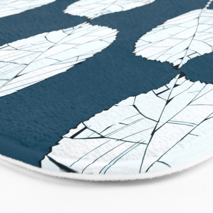 Beech Leaves Bath Mat