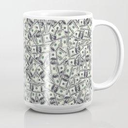 Giant money background 100 dollar bills / 3D render of thousands of 100 dollar bills Coffee Mug