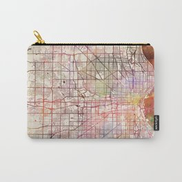 Milwaukee map Wisconsin Carry-All Pouch