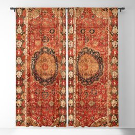 Seley 16th Century Antique Persian Carpet Print Blackout Curtain