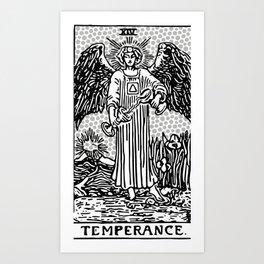 Modern Tarot Design - 14 Temperance Art Print