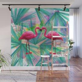 Flamingo Love Wall Mural