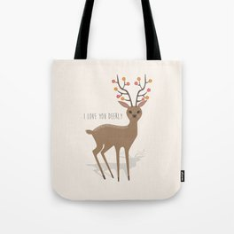 I love you deerly Tote Bag
