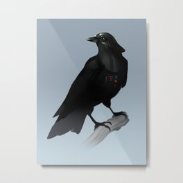 Crow Vader Metal Print