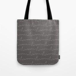 New York Skyline // Charcoal Grey Tote Bag