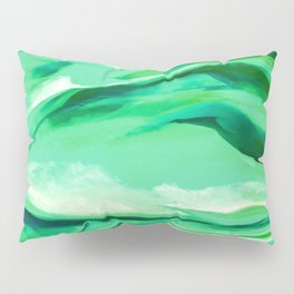 Green Abstract Painting Pillow Sham