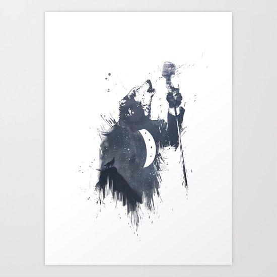 wolf song II Art Print