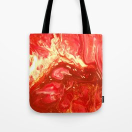Fluid Nature - Fanning The Flames - Abstract Acrylic Artwork Tote Bag