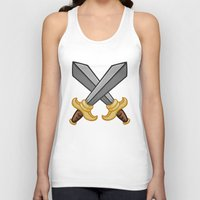 fight Tank Tops featuring FIGHT by Countmoopula