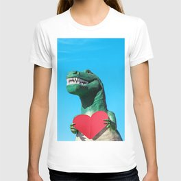 Tiny Arms, Big Heart: Tyrannosaurus Rex with Red Heart T-shirt