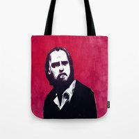 nick cave Tote Bags featuring Nick Cave by James Courtney-Prior