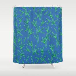 Green Bamboo Pattern Shower Curtain