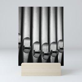 Organ pipes black and white photography Mini Art Print