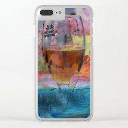 Cold drinks on the table Clear iPhone Case