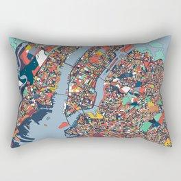 New York City Abstract Map Art Rectangular Pillow