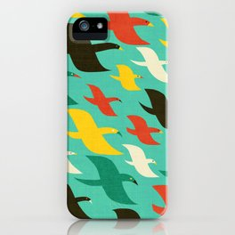 Birds are flying iPhone Case