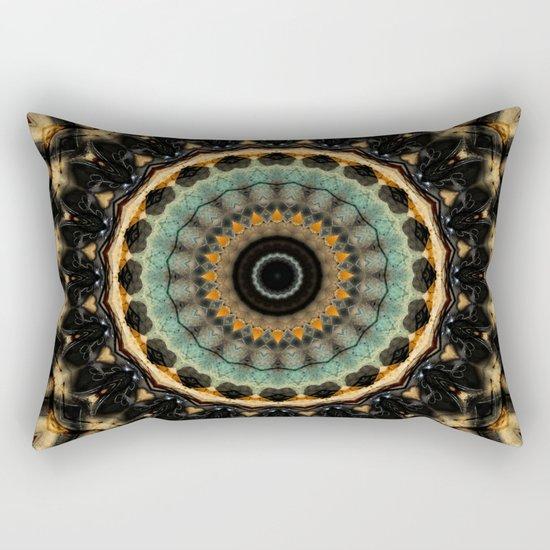 Mandala black 2 Rectangular Pillow