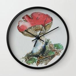 Red Cap Mushroom Wall Clock