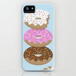 Triple Treat! Iced Doughnuts iPhone Case