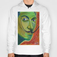 dali Hoodies featuring Dali by Adam Blount