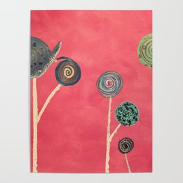 Candy flowers Poster