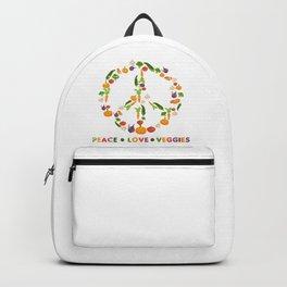 Peace Love Veggies Backpack