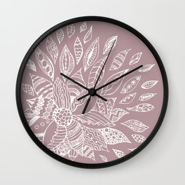 Scattered Petals on Vintage Backdrop Wall Clock