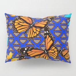 MODERN BUTTERFLY BLUE ABSTRACT WORLD Pillow Sham