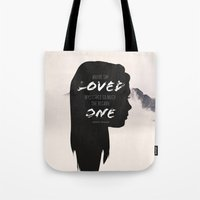 paper towns Tote Bags featuring Paper Towns: Maybe she loved mysteries so much by karifree