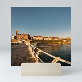 The seaside town of Cromer at sunrise Mini Art Print