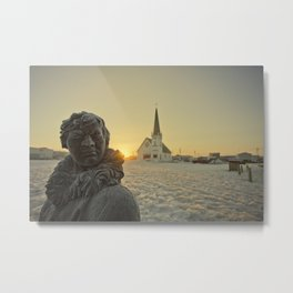 Sunrise in Nome, Alaska Metal Print