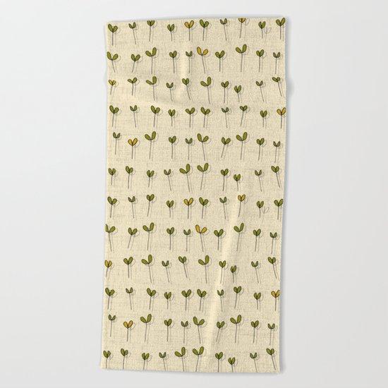sprouts cream Beach Towel