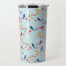 Spring blossom birds blue Travel Mug