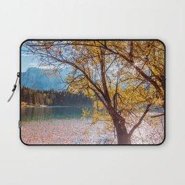 Colorful autumn foliage at the alpine lake Laptop Sleeve