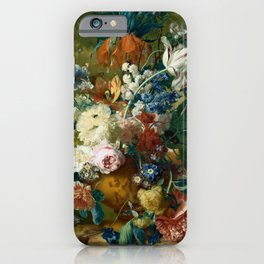 """Jan van Huysum """"Flowers in a Vase with Crown Imperial and Apple Blossom at the Top"""" iPhone Case"""