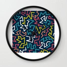 Pattern 90's Retro Fan Gift Wall Clock