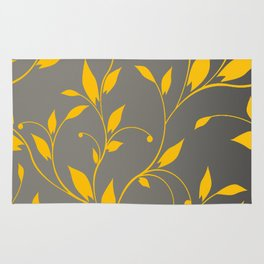 FLOWERY VINES | grey yellow Rug