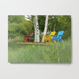 Summer Chairs Metal Print