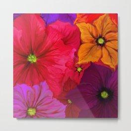 Surfinie and anemones Metal Print