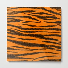 Tigger Stripes  Metal Print