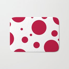 Zen Sphere - Red on White Bath Mat