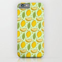 Citrus Fruit Lemon Healthy Pattern Gift iPhone Case