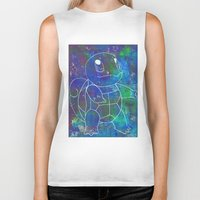 squirtle Biker Tanks featuring Squirtle by pkarnold + The Cult Print Shop
