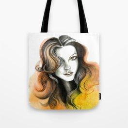 Yellow and Orange Flame Hair Tote Bag