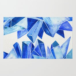 Sapphire Watercolor Facets Rug
