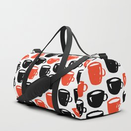 Quirky cool coffee cups pattern Duffle Bag